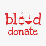 La sangre dona palabra Fotografía de archivo
