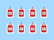 La sangre empaqueta el icono del símbolo de la muestra Foto de archivo libre de regalías
