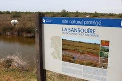La Sansouïre Domaine, LaPalissade reserv, Frankrike Arkivbild