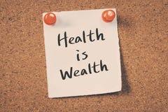 La santé est richesse Image stock