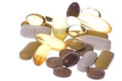 la santé a isolé de macro suppléments Image libre de droits