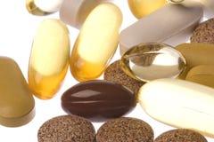 la santé a isolé de macro suppléments Photo stock
