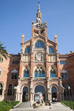 La Santa Creu de del hospital i Sant Pau en Barcelona Fotos de archivo