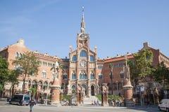 La Santa Creu de del hospital i Sant Pau en Barcelona Foto de archivo