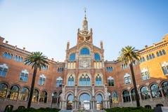 La Santa Creu del de dell'ospedale i Sant Pau, Barcellona Fotografia Stock