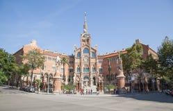La Santa Creu del de dell'ospedale i Sant Pau a Barcellona Immagine Stock Libera da Diritti