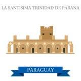 La Santisima Trinidad De Parana Paraguay vector flat attraction Royalty Free Stock Photo
