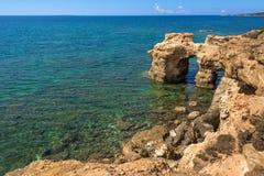 La Sardaigne, côte de Scoada d'arène de ` de s Photographie stock libre de droits