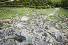 La Sardaigne. Complexe de Barumini Images stock