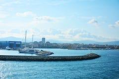 La Sardaigne et les ports maritimes Italie photographie stock