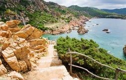 La Sardaigne, Italie. Côte Paradiso. Photographie stock libre de droits