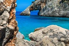 La Sardegna, Cala Goloritzè immagine stock