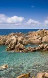 La Sardegna, Italia. Costa Paradiso. Immagini Stock