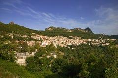 La Sardegna Jerzu verso la fine della mattina della molla fotografie stock libere da diritti