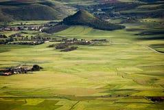 La Sardegna. La pianura di Marmilla Fotografia Stock