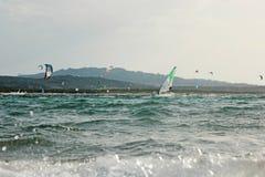 La Sardegna praticante il surfing 04 Fotografie Stock Libere da Diritti