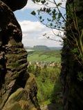 La Sassonia Svizzera, Germania Fotografie Stock