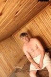 La sauna Imagen de archivo libre de regalías