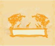 La savane africaine illustration de vecteur
