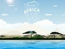La savane africaine Photo stock