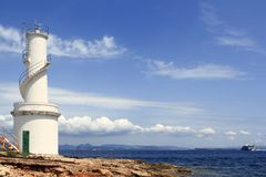 La Savina Portleuchtturm Formentera lizenzfreie stockfotografie