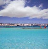 La-Savina Sabina-Dorf und -jachthafen in Formentera stockbilder