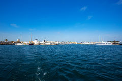 La-Savina Sabina-Dorf und -jachthafen in Formentera stockbild