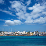 La Savina Sabina village and marina in Formentera Royalty Free Stock Images