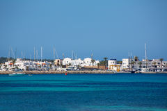 La Savina Sabina village and marina in Formentera Stock Photography