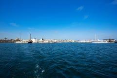 La Savina Sabina village and marina in Formentera Stock Image