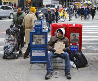 La scène ajustent parfois dans Midtown Manhattan Photos stock
