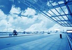 La scène de la construction de l'aéroport T3 dans la porcelaine de Pékin Photo libre de droits