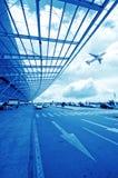 La scène de la construction de l'aéroport T3 dans la porcelaine de Pékin Photos stock