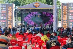 La scène de musique au festival Images stock
