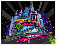 La scène de nuit de ville Images libres de droits