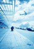 La scène du bâtiment de l'aéroport T3 dans la porcelaine de Pékin. Photo stock