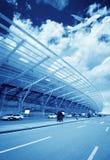 La scène du bâtiment de l'aéroport T3 dans la porcelaine de Pékin. Photographie stock libre de droits
