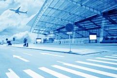 La scène du bâtiment de l'aéroport T3 dans la porcelaine de Pékin. Photos stock