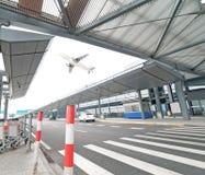 La scène du bâtiment de l'aéroport T3 dans la porcelaine de Pékin. Photographie stock