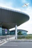 La scène du bâtiment de l'aéroport T3 dans la porcelaine de Pékin. Images stock
