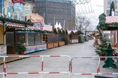 La scène du crime au marché de Noël à Berlin Photo libre de droits