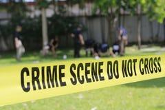 La scène du crime ne croisent pas Photo libre de droits