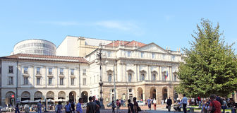 La Scala剧院 免版税库存图片