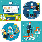 La scala di successo innesta le statistiche d'impresa online Immagini Stock Libere da Diritti