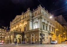 La Scala en operahus i Milan Royaltyfria Foton