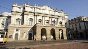 La Scala in Milaan, Italië stock videobeelden