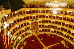 La Scala in Milan Royalty Free Stock Photos