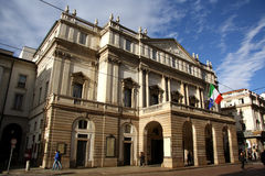 La Scala opera house in Milan, Italy. The famous La Scala opera house in Milan, Italy, inaugurated in 1778 Stock Photos