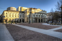 La Scala, the opera house in Milan, Italy stock photography