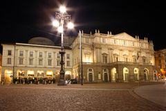 La Scala opera house Royalty Free Stock Photography
